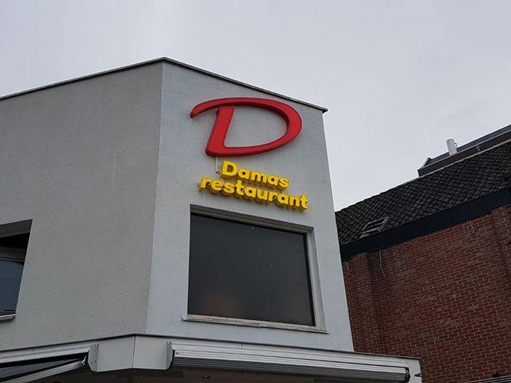 Lichtletters – Damas restaurant
