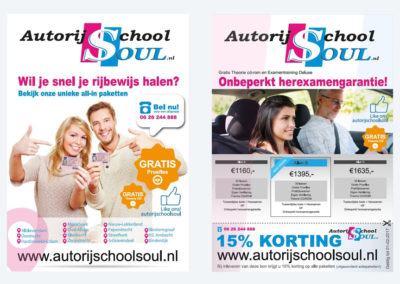 Flyers – Autorijschool Soul