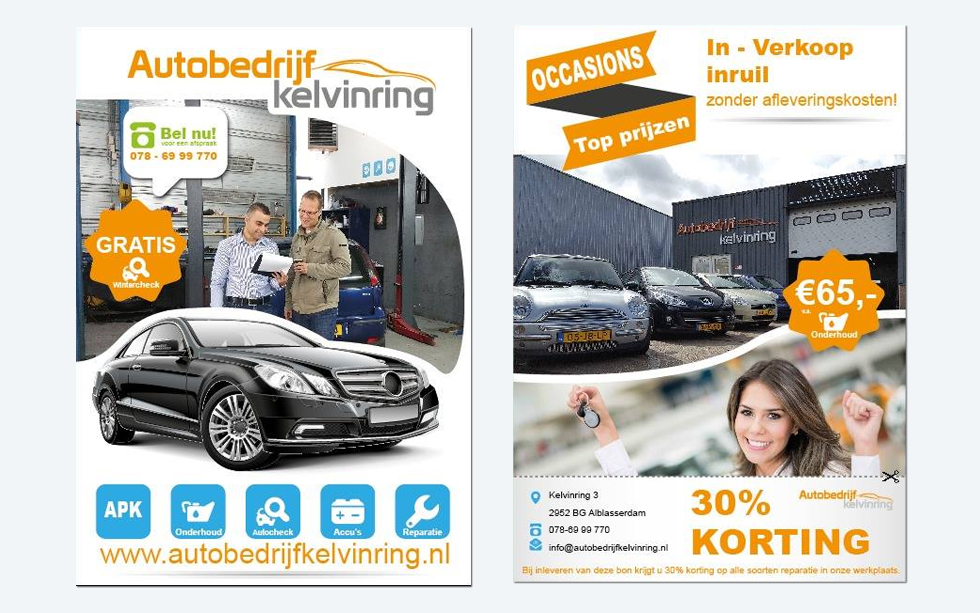 Flyers – Autobedrijf Kelvinring