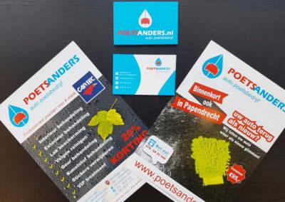 Flyers en visitekaartjes – Poets Anders